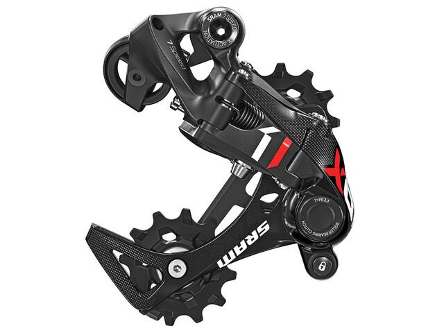 SRAM X01 MTB achterderailleur 7-speed rood/zwart